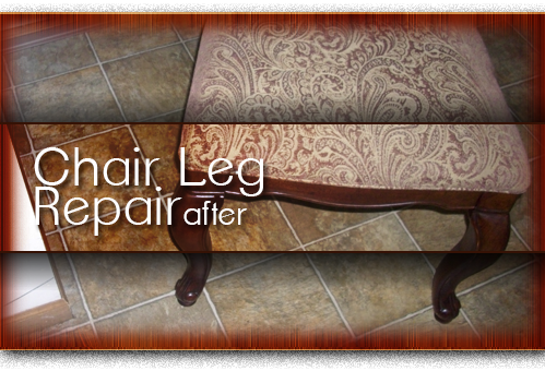 chair leg repair after