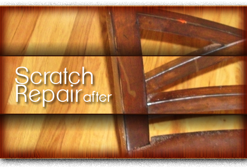 wood chair scratch repair after